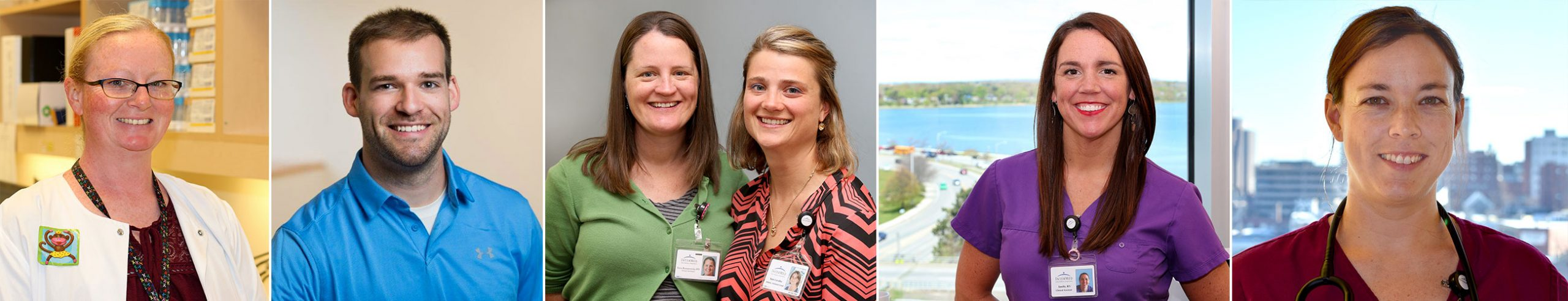 A collage of smiling faces of providers who work at InterMed, P.A., in Maine